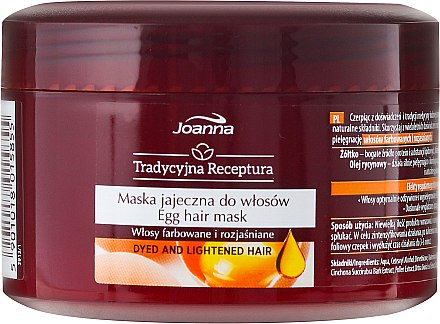 Haarmaske - Joanna Egg Hair Mask Egg Yolk Castar Oil — Bild N2