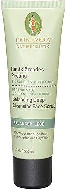 Hautklärendes Gesichtspeeling mit Bio-Salbei und Bio-Traube - Primavera Balancing Deep Cleansing Face Scrub — Bild N1