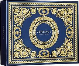 Düfte, Parfümerie und Kosmetik Versace Pour Homme - Duftset (Eau de Toilette 50ml + Duschgel 50ml + After Shave Balsam 50ml)