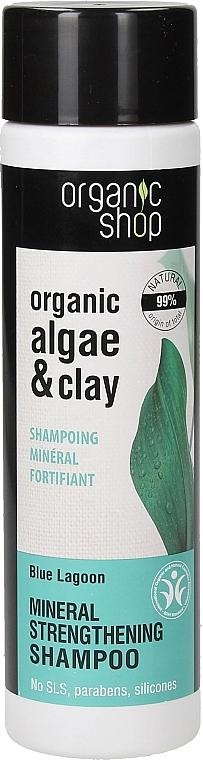Kräftigendes Shampoo mit Bio Algenextrakt und Tonerde - Organic Shop Organic Algae and Clay Mineral Shampoo — Bild N1