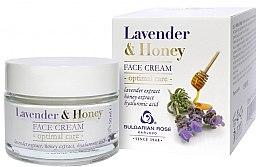 Düfte, Parfümerie und Kosmetik Pflegende Gesichtscreme mit Lavendel, Honig und Hyaluronsäure - Bulgarian Rose Lavender & Honey Cream
