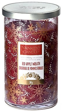 Duftkerze im Glas Red Apple Wreath - Yankee Candle Red Apple Wreath Holiday Limited Collections — Bild N1