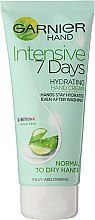 """Düfte, Parfümerie und Kosmetik Intensive feuchtigkeitsspendende Handcreme """"7 Tage"""" mit Aloe Vera - Garnier 7 Days Hydration Moisturizing Hand Cream"""