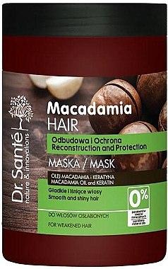 Regenerierende Haarmaske mit Macadamia- und Keratin Öl - Dr. Sante Macadamia Hair — Bild N1