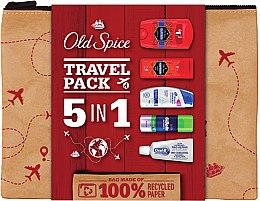 Düfte, Parfümerie und Kosmetik Körperpflegeset - Old Spice Travel Pack 5 in 1 (Rasierschaum 100ml + 2in1 Shampoo und Duschgel 50ml + Deostick 50g + Shampoo 90ml + Zahnpasta 15ml)