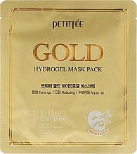 Düfte, Parfümerie und Kosmetik Feuchtigkeitsspendende Gesichtsmaske mit Hyaluronsäure und 9 Pflanzenextrakten - Petitfee & Koelf Gold Hydrogel Mask Pack +5 Golden Complex