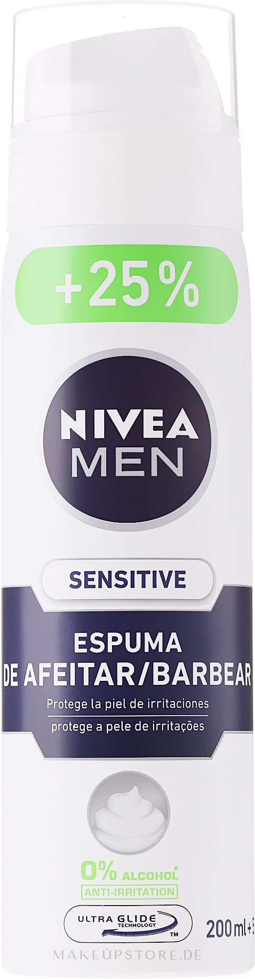 Rasierschaum für empfindliche Haut - Nivea For Men Active Comfort System Shaving Foam — Bild 250 ml