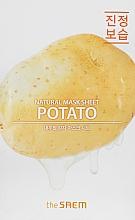 Beruhigende und feuchtigkeitsspendende Tuchmaske für empfindliche und müde Gesichtshaut mit Kartoffelextrakt - The Saem Natural Potato Mask Sheet — Bild N1