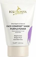 Düfte, Parfümerie und Kosmetik Gesichtsmaske mit Bio-Acai, Drachenfrucht und australischem Ton - Eco by Sonya Face Compost Mask Purple Power