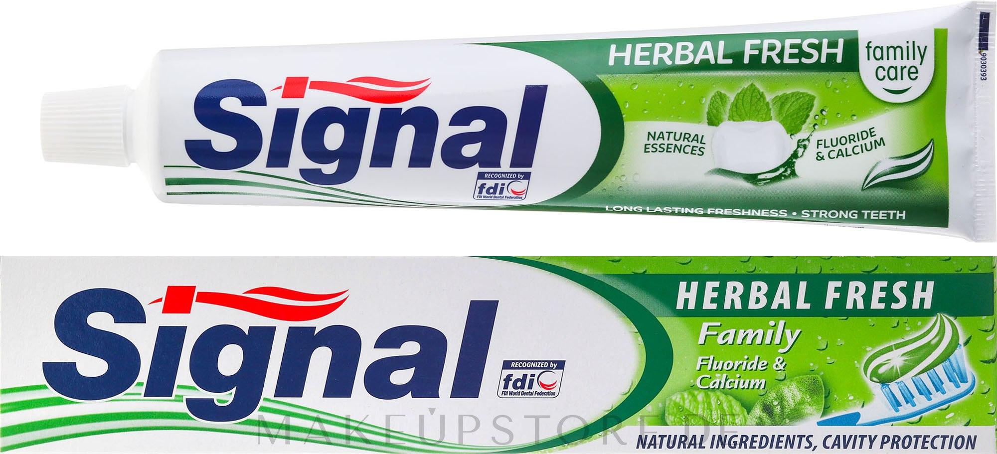 Kräuterzahnpasta mit Fluorid und Calcium Family Herbal Fresh - Signal Family Herbal Fresh Toothpaste — Bild 75 ml