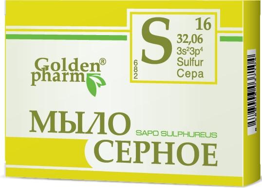 Schwefelseife gegen Akne und Psoriasis - Golden Pharm — Bild N1