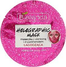 Düfte, Parfümerie und Kosmetik Beruhigende Peelingmaske mit D-Panthenol und Allantoin - Bielenda Holographic Mask Peel-Off