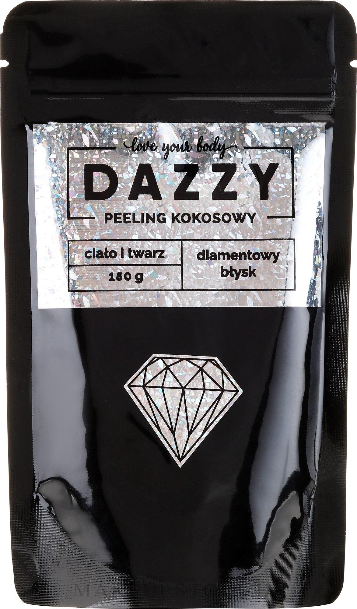 Gesichts- und Körperpeeling mit Kokosnuss - Dazzy Coconut Face & Body Peeling Diamond — Bild 150 g