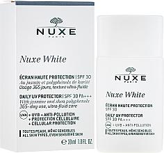 Düfte, Parfümerie und Kosmetik Sonnenschutzprodukt für das Gesicht SPF 30 - Nuxe White Daily UV Protector SPF30 PA+++