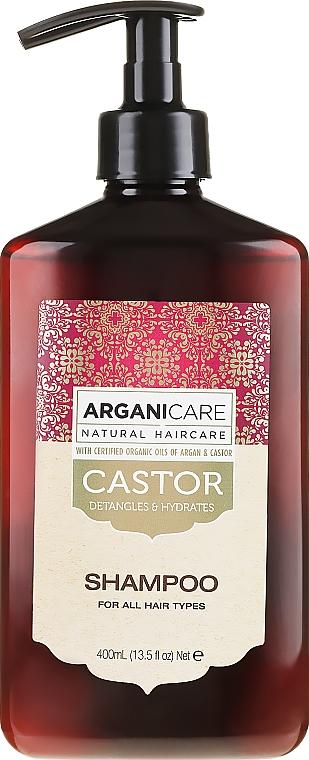 Feuchtigkeitsspendendes Shampoo mit Rizinusöl - Arganicare Castor Oil Shampoo