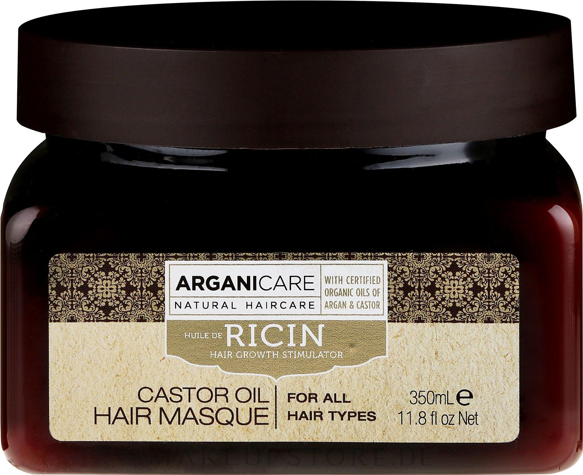 Haarmaske zum Haarwachstum mit Rizinusöl - Arganicare Castor Oil Hair Masque — Bild 350 ml
