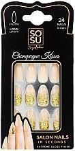 Düfte, Parfümerie und Kosmetik Set Künstliche Nägel 24 St. - Sosu by SJ False Nails Long Stiletto Champagne Kisses