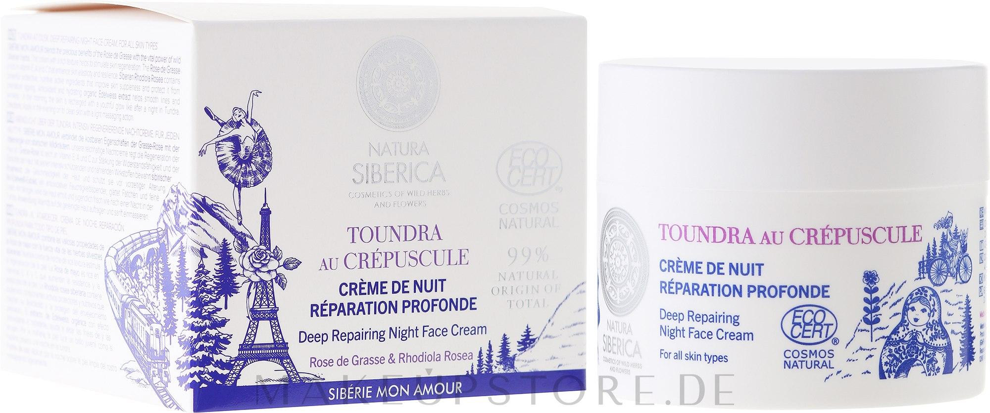 Regenerierende Nachtcreme für das Gesicht - Natura Siberica Sibérie Mon Amour Deep Repairing Night Face Cream — Bild 50 ml