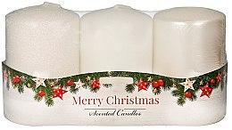 Düfte, Parfümerie und Kosmetik Duftkerze Cinnamon & Vanilla 3er Pack - Artman Rustic Christmas Cinnamon & Vanilla Scented Candles (3x22g)