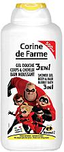 """Düfte, Parfümerie und Kosmetik 3 in 1 Duschgel, Körper & Haar Schaumbad """"Die Unglaublichen"""" - Corine De Farme Shower Gel"""
