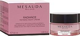 Düfte, Parfümerie und Kosmetik Anti-Aging Nachtcreme mit Hyaluronsäure - Mesauda Milano Radiance Refining Night Cream