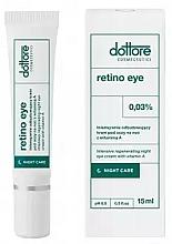 Düfte, Parfümerie und Kosmetik Intensiv regenerierende Nachtcreme für die Augenpartie mit 0.3% Vitamin A - Dottore Retino Eye