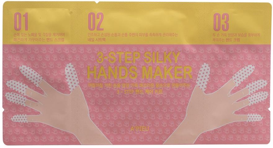 3-Schritt seidenweiche Hand- und Nagelmaske - A'pieu 3-Step Silky Hands Maker — Bild N1