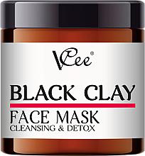 Düfte, Parfümerie und Kosmetik Reinigende Gesichtsmaske mit schwarzem Ton - VCee Black Clay Face Mask Cleansing&Detox