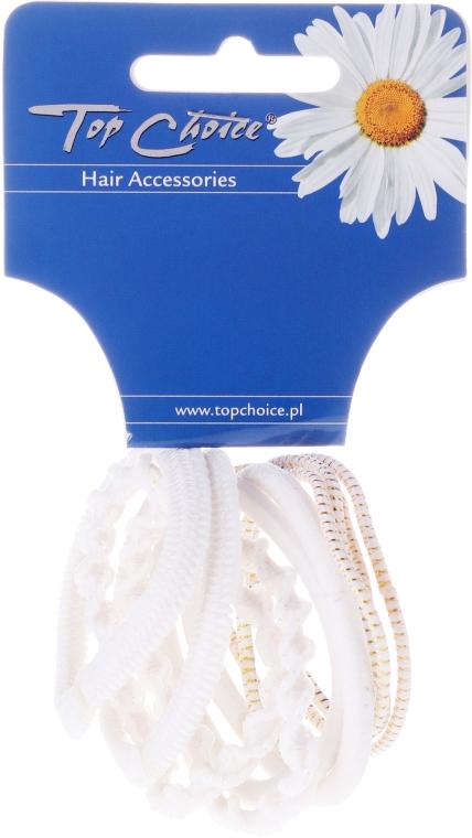 "Haargummis ""White Collection"" 10 St. - Top Choice — Bild N1"