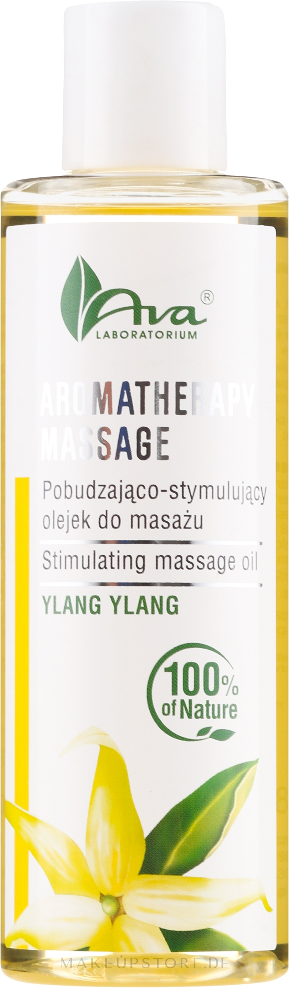 Stimulierendes Massageöl für Körper Ylang Ylang - Ava Laboratorium Aromatherapy Massage Stimulating Massage Oil Ylang-Ylang — Bild 200 ml