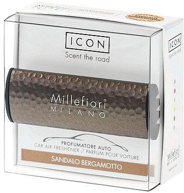 Auto-Lufterfrischer Sandalo Bergamotto - Millefiori Car Air Freshener Sandalo Bergamotto Icon Metall Shades Line — Bild N1