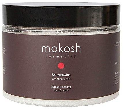 Bade- und Peelingsalz mit Moosbeere - Mokosh Cosmetics Cranberry Salt — Bild N1