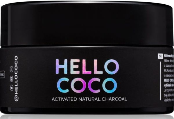 Aufhellendes natürliches Zahnpulver mit Aktivkohle - Hello Coco Sweet Mint Activated Natural Charcoal Teeth Whitener — Bild N1
