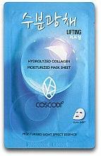 Düfte, Parfümerie und Kosmetik Feuchtigkeitsspendende Tuchmaske mit Kollagen - Coscodi Hydrolyzed Collagen Moisturized Mask Sheet