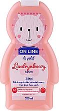 Düfte, Parfümerie und Kosmetik 3in1 Duschgel für Körper, Gesicht und Haar mit Bonbonduft - On Line Le Petit Candy 3 In 1 Hair Body Face Wash