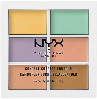 Gesichtskontur-Palette - NYX Professional Makeup Color Correcting Palette — Bild N1