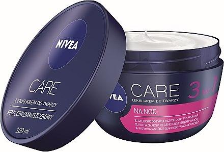 3in1 Leichte Gesichtscreme für die Nacht - Nivea Care Night Light Face Cream — Bild N3