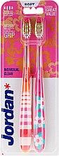 Düfte, Parfümerie und Kosmetik Zahnbürste weich Individual Clean rosa, orange 2 St. - Jordan Individual Clean Soft