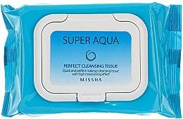 Düfte, Parfümerie und Kosmetik Feuchtigkeitsspendende Make-up Entfernungstücher - Missha Super Aqua Perfect Cleansing Tissue