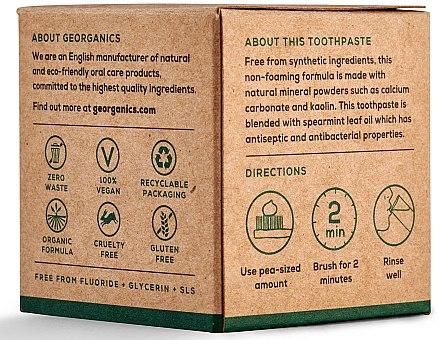 Natürliche und mineralstoffreiche Zahnpasta mit Minzgeschmack - Georganics Spearmint Natural Toothpaste — Bild N4