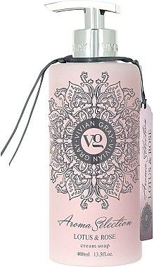 Flüssigseife - Vivian Gray Aroma Selection Creme Soap Lotus & Rose — Bild N1