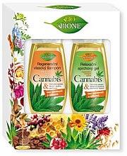 Düfte, Parfümerie und Kosmetik Haarpflegeset - Bione Cosmetics Cannabis (Shampoo 260ml + Duschgel 300ml)