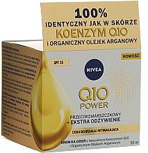 Düfte, Parfümerie und Kosmetik Anti-Falten Tagescreme für trockene bis sehr trockene Haut SPF 15 - Nivea Visage Q10 Power Extra SPF 15