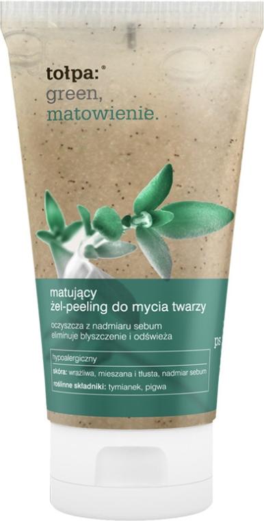 Mattierendes Gel-Peeling für das Gesicht - Tolpa Green Mattifying Gel-Scrub — Bild N1