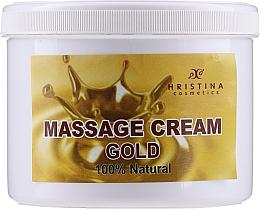 Düfte, Parfümerie und Kosmetik Tief nährende glättende, verjüngende und straffende Massagecreme für Körper und Gesicht mit kolloidalem Gold - Hristina Cosmetics Gold Massage Cream