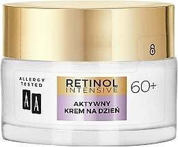 Aktiv glättende und feuchtigkeitsspendende Anti-Falten Tagescreme mit Bio Retinolkomplex für reife Gesichtshaut 60+ - AA Retinol Intensive 60+ Cream — Bild N2