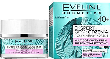 Verjüngende antimykotische Tages- und Nachtcreme mit Multivitaminen 40+ - Eveline Cosmetics Ekspert Cream — Bild N1