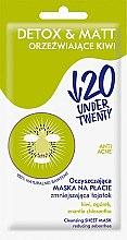 Düfte, Parfümerie und Kosmetik Mattierende Detox-Tuchmaske für das Gesicht - Under Twenty Anti! Acne Detox & Matt Face Mask