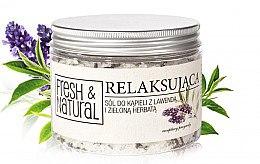 Düfte, Parfümerie und Kosmetik Entspannendes Badesalz mit Lavendel und grünem Tee - Fresh&Natural