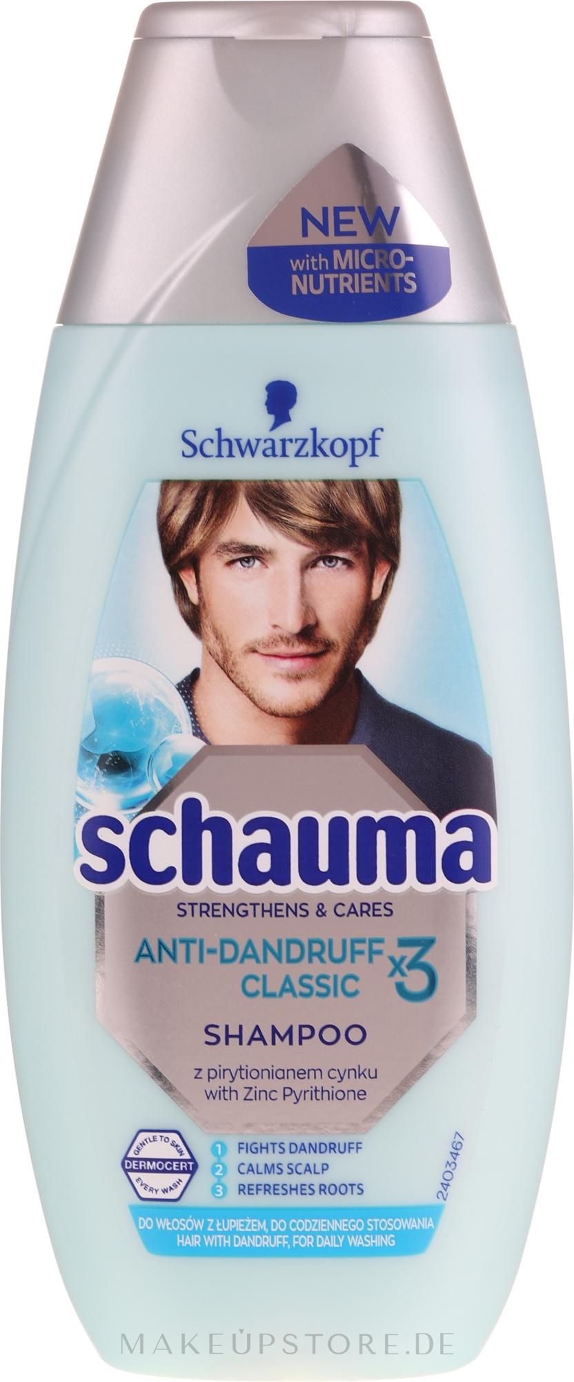 Anti-Schuppen Shampoo - Schwarzkopf Schauma Anti-Dandruff Classic X3 Shampoo Men — Bild 250 ml
